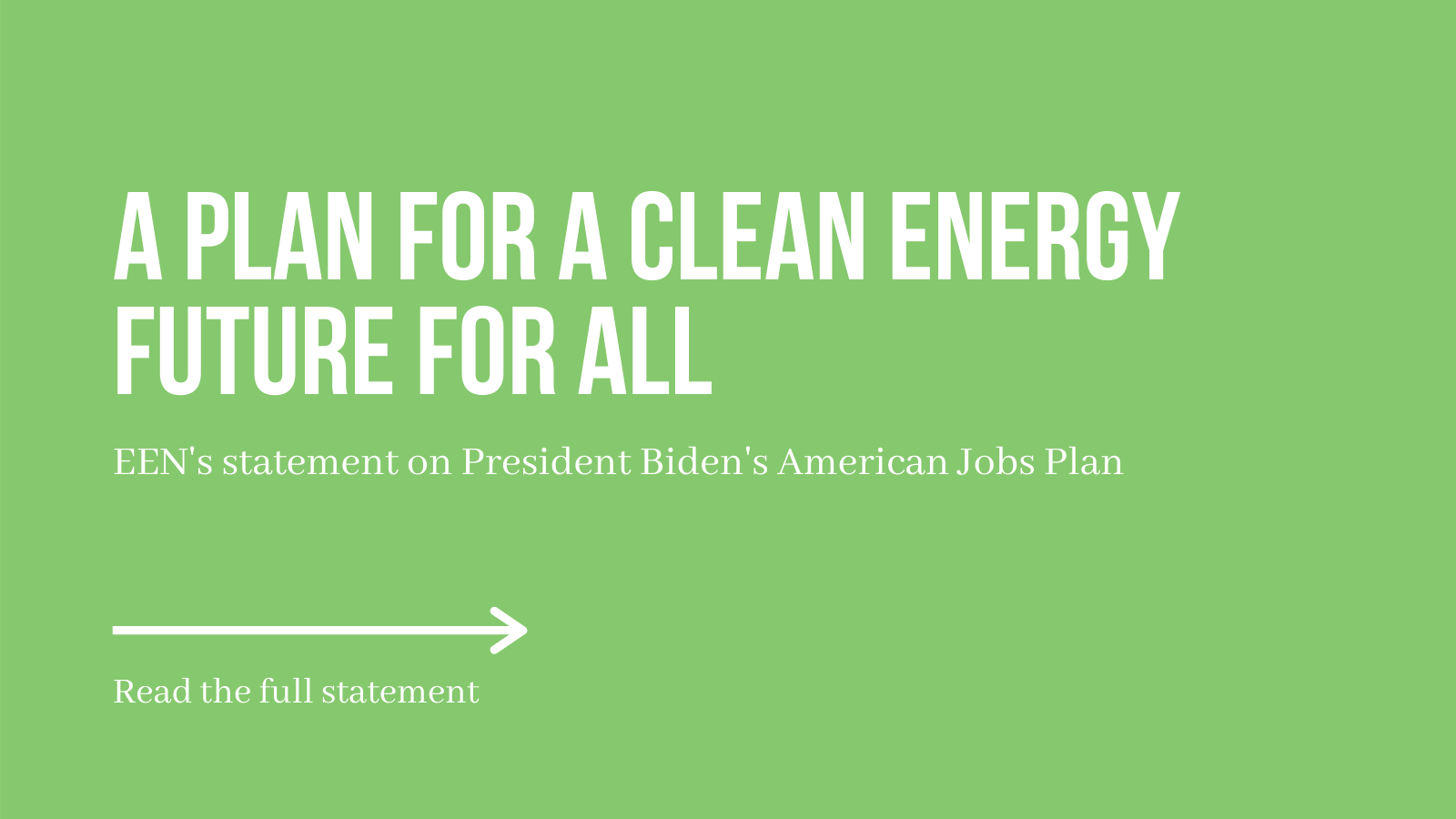 A Plan For a Clean Energy Future For All