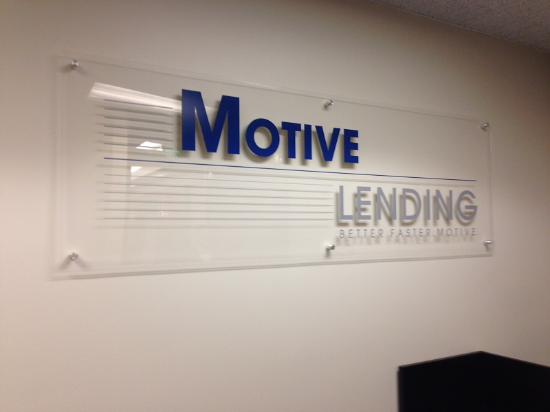 Acrylic Lobby Sign with Brushed Standoffs