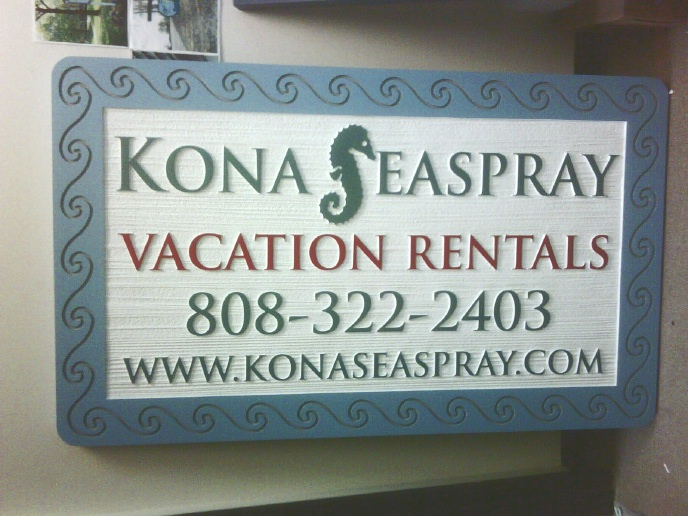 L21121 - Beachfront Vacation Rental Sign