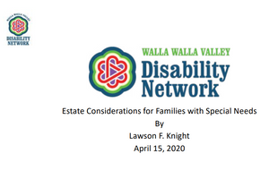 Estate Considerations for Families with Special Needs