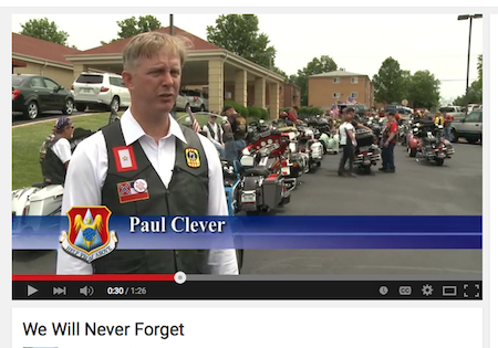 Video about the final tribute for TSgt Louis Clever