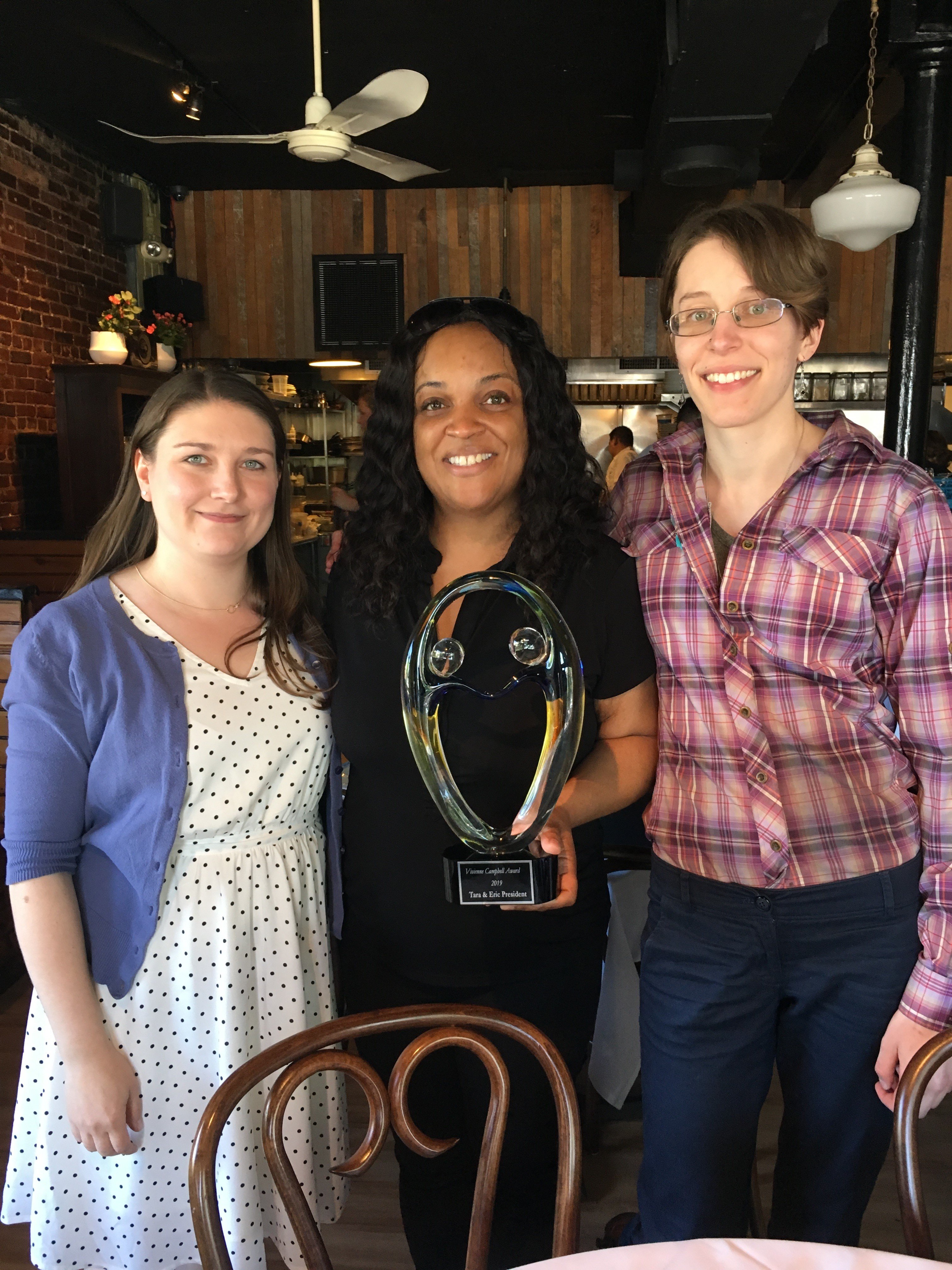 Tara and Eric President Win the Vivienne Campbell Award