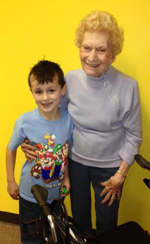 Gma and Mason Wood