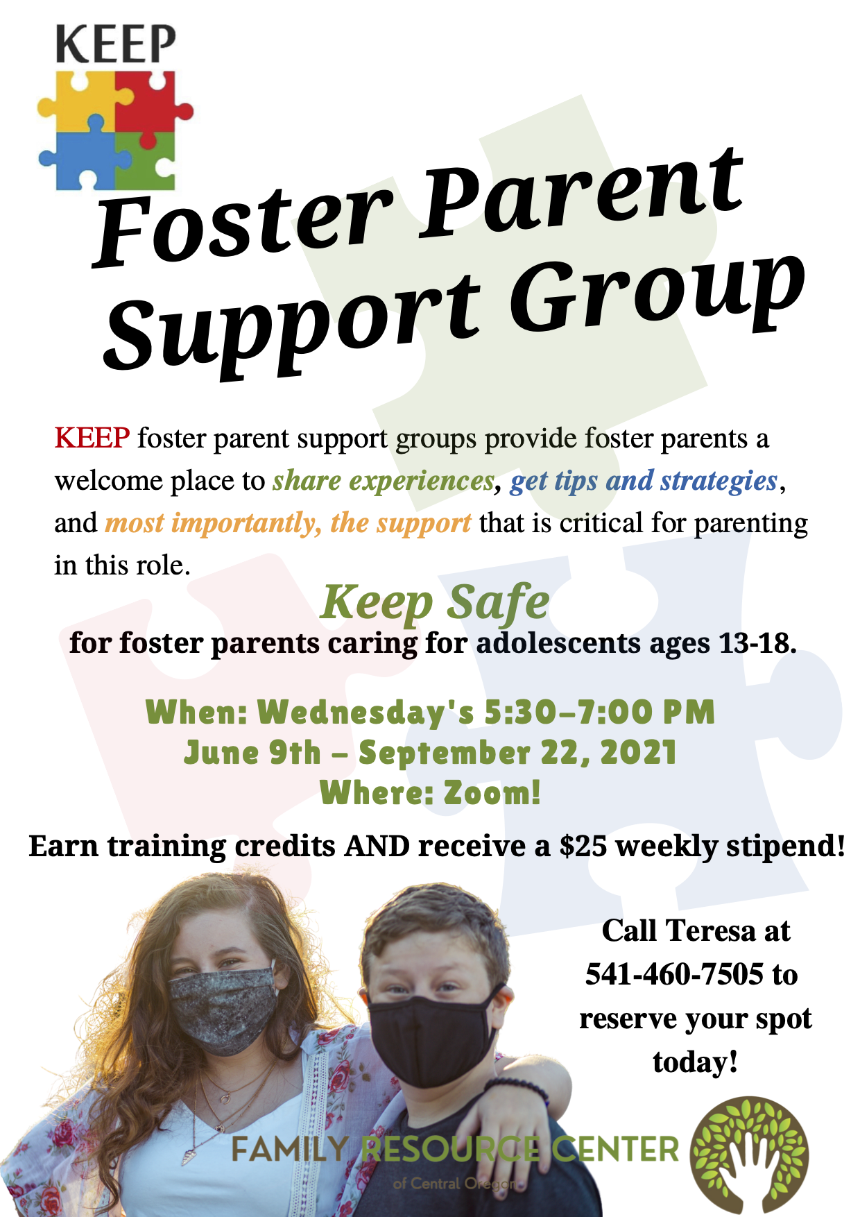 Flyer for Foster Parent Support Group