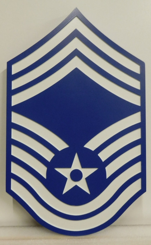 EA-5145 - Insignia of Chief Master Sergeant of the USAF Mounted on Sintra Board.