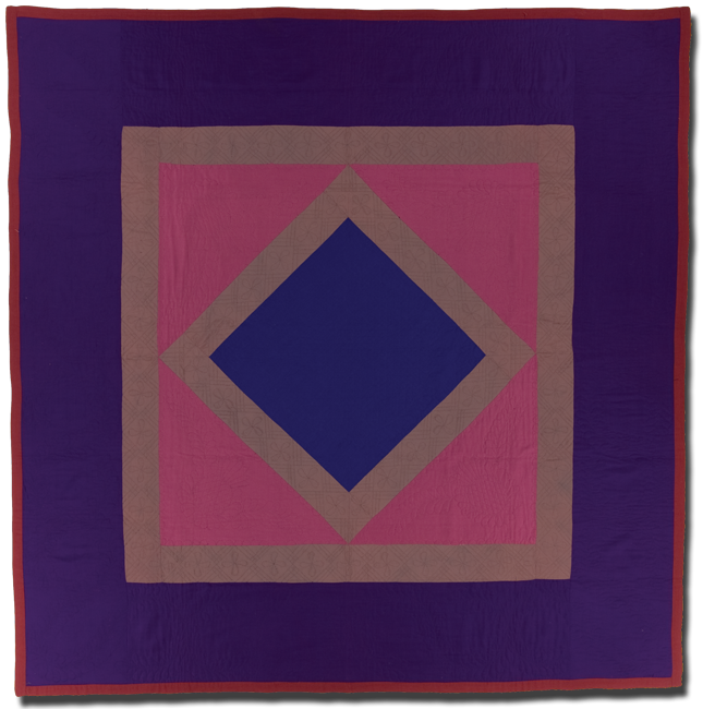 Center Diamond in a Square, Maker unknown, Probably made in Lancaster County, Pennsylvania, United States, Circa 1925-1945, 81.5 x 80.5 in, IQSC 1997.007.0627