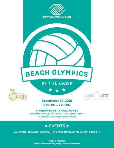 Beach Olympics Tournament to Benefit Boys & Girls Club