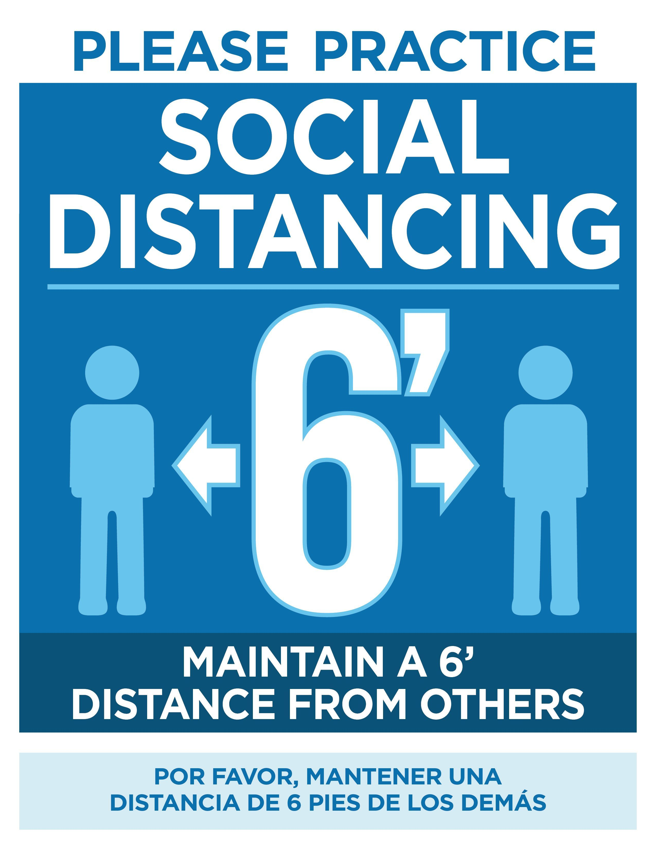 Free Downloadable Social Distancing Posters