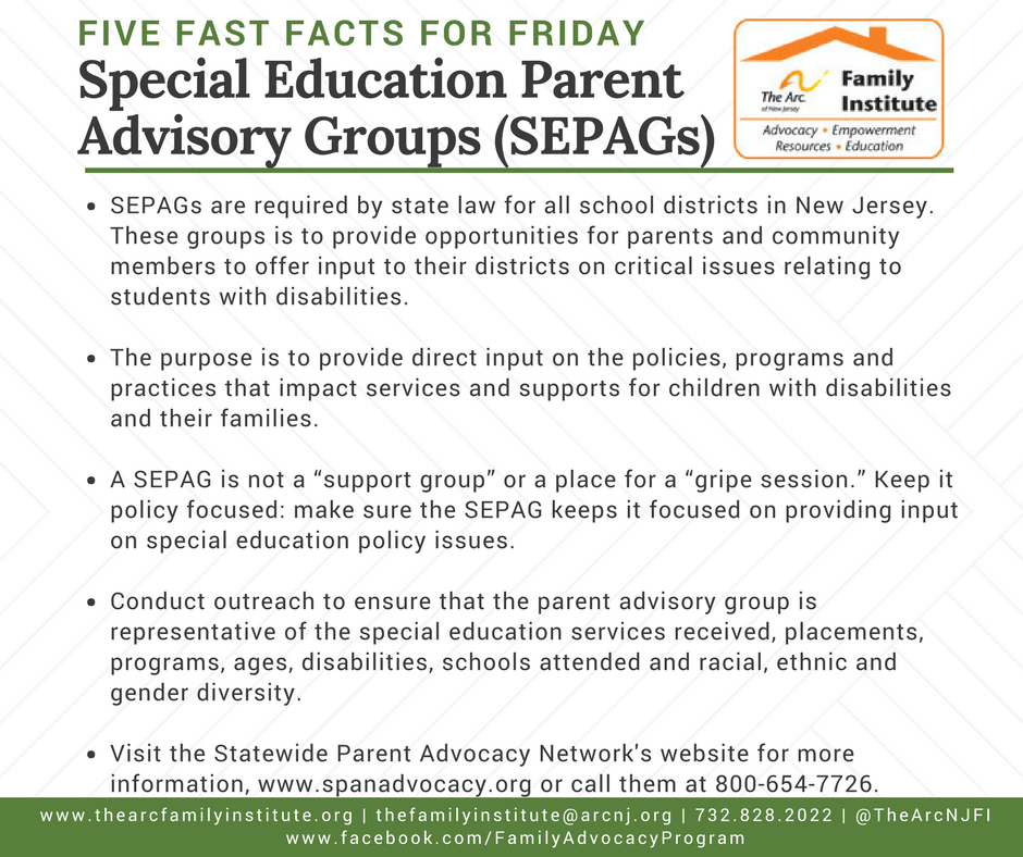 Special Education Parent Advisory Groups