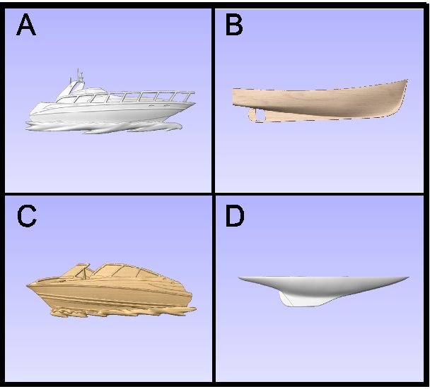 L21906 - Carved Powerboats and Hulls