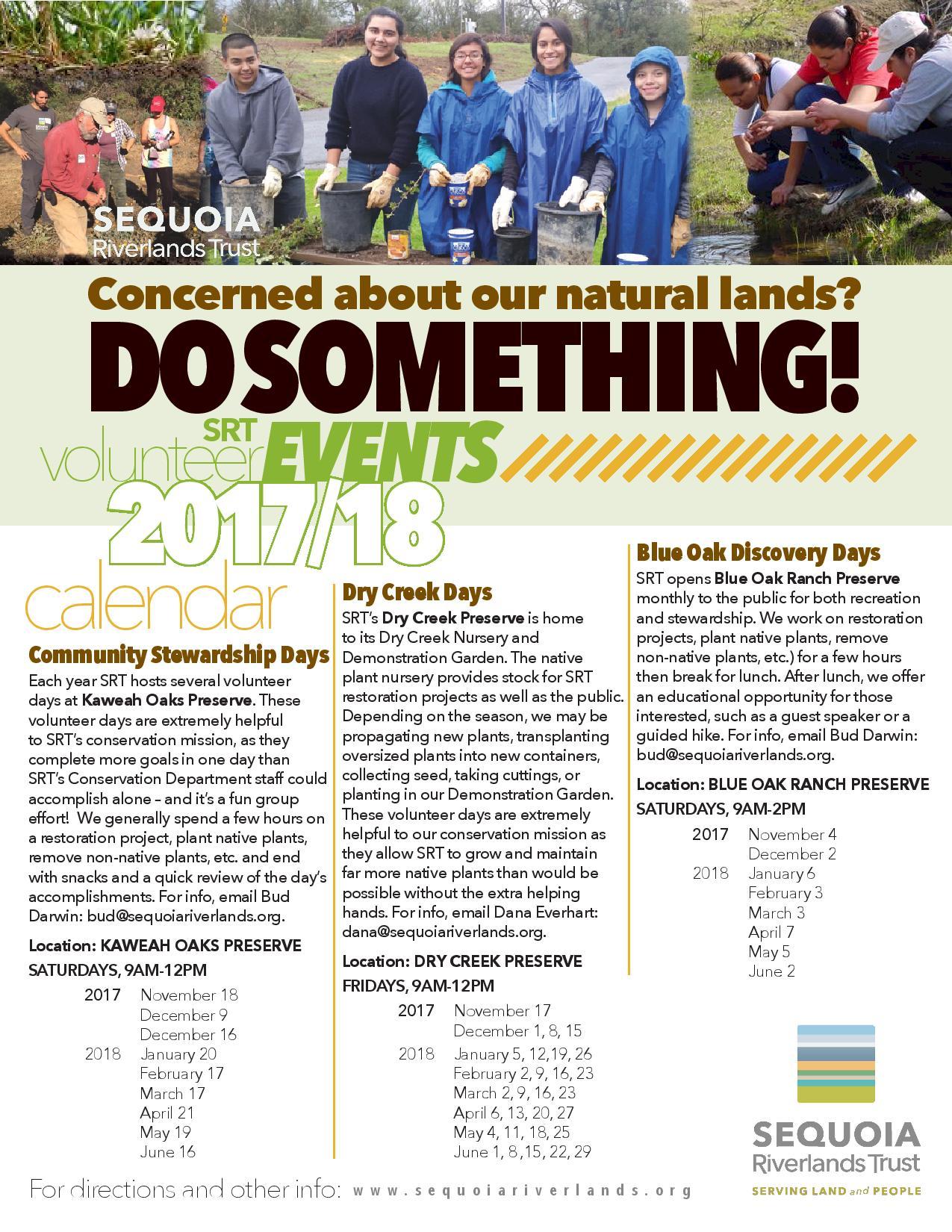 Kaweah Oaks Preserve Stewardship Day