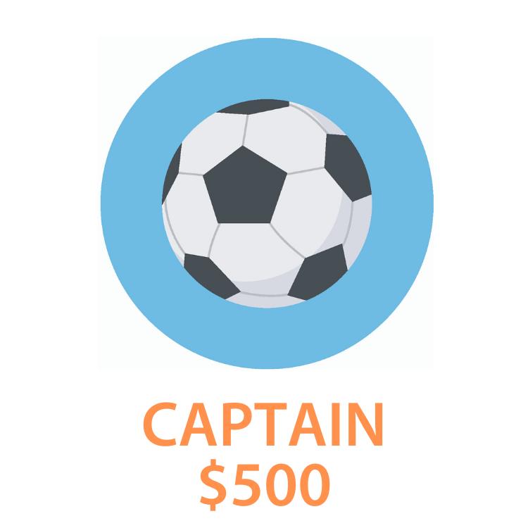 4. Captain - $500