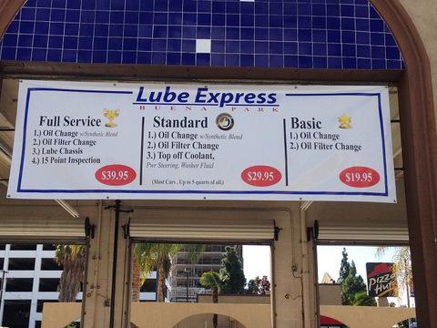 Auto Repair Center Signs And Menu Boards Orange County