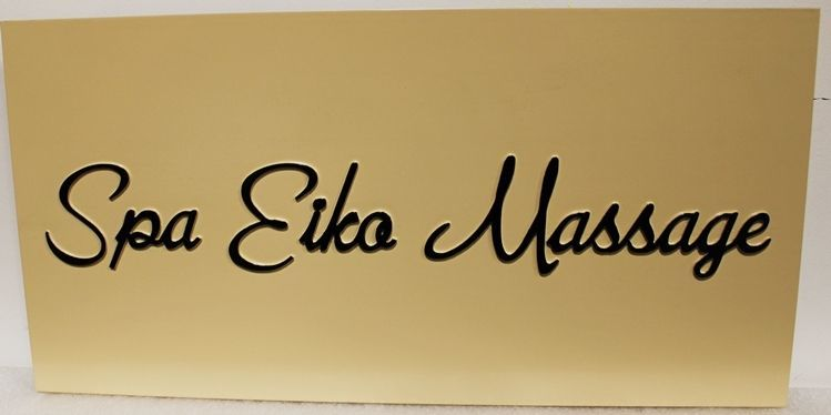 """B11216 - CarvedSign for the """"Spa EikaMassage"""""""