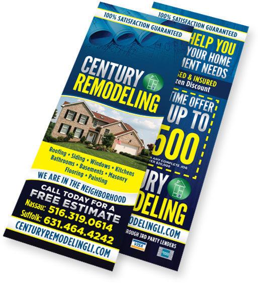 century remodeling doorhanger