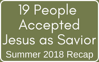 2018 Decisions for Jesus #