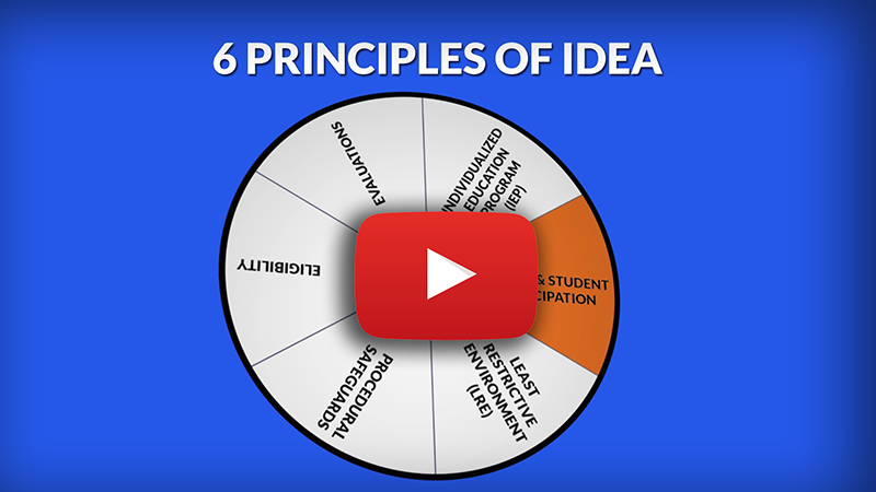 Link to youtube video 6 Principles of IDEA: Parent & Student Participation