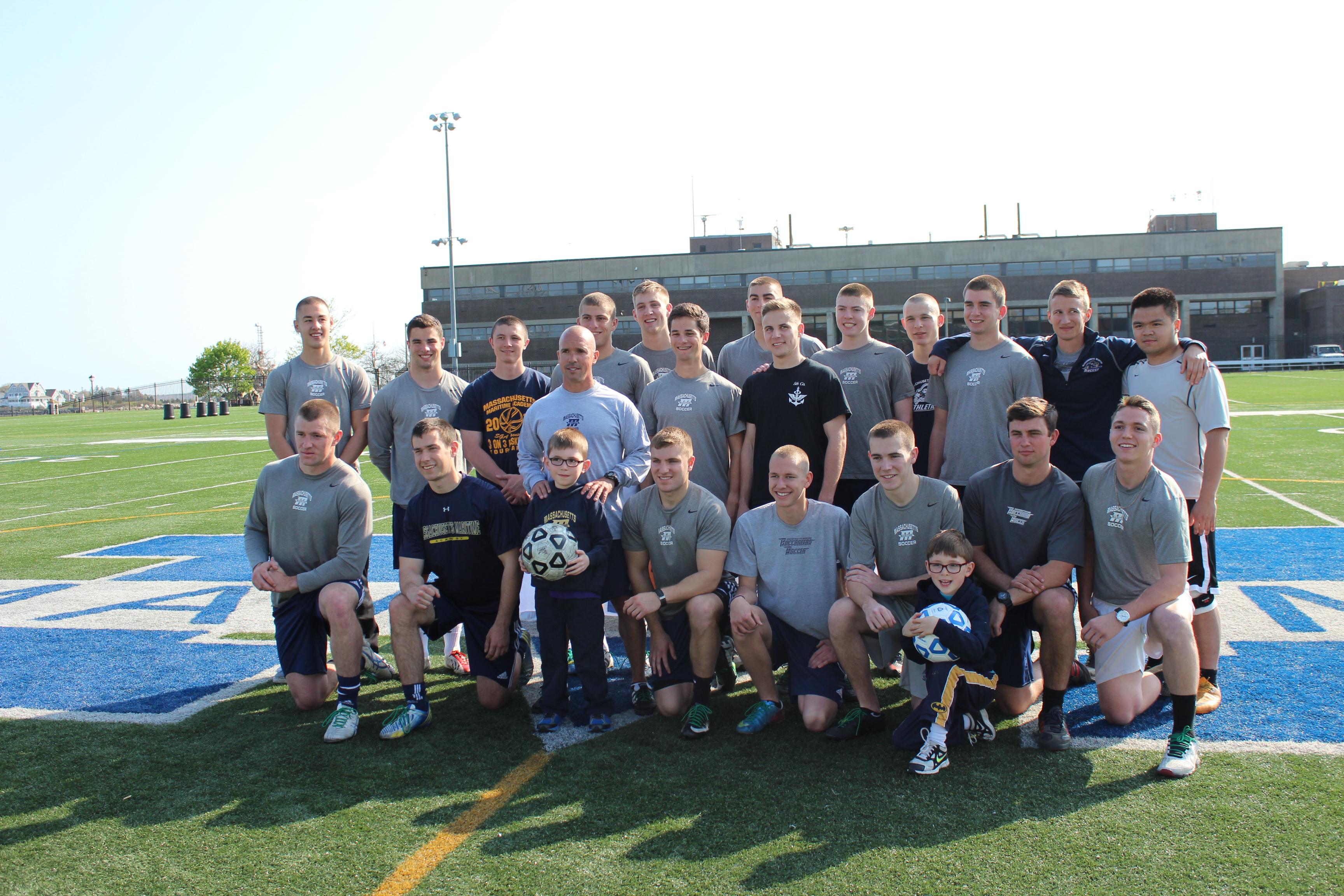 Mass. Maritime Soccer Team to Support Marshfield Boy