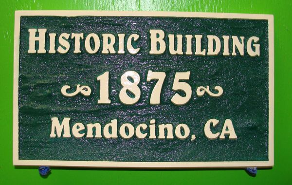 F15969 - Carved Wooden Sign for Historic Building