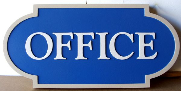 KA20521 - Smooth Carved HDU (Choice of Wood or HDU Available) Sign for Office Location
