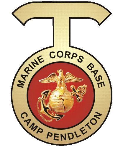 V31442 - USMC Camp Pendleton Carved 3D Insignia for Wall Plaque