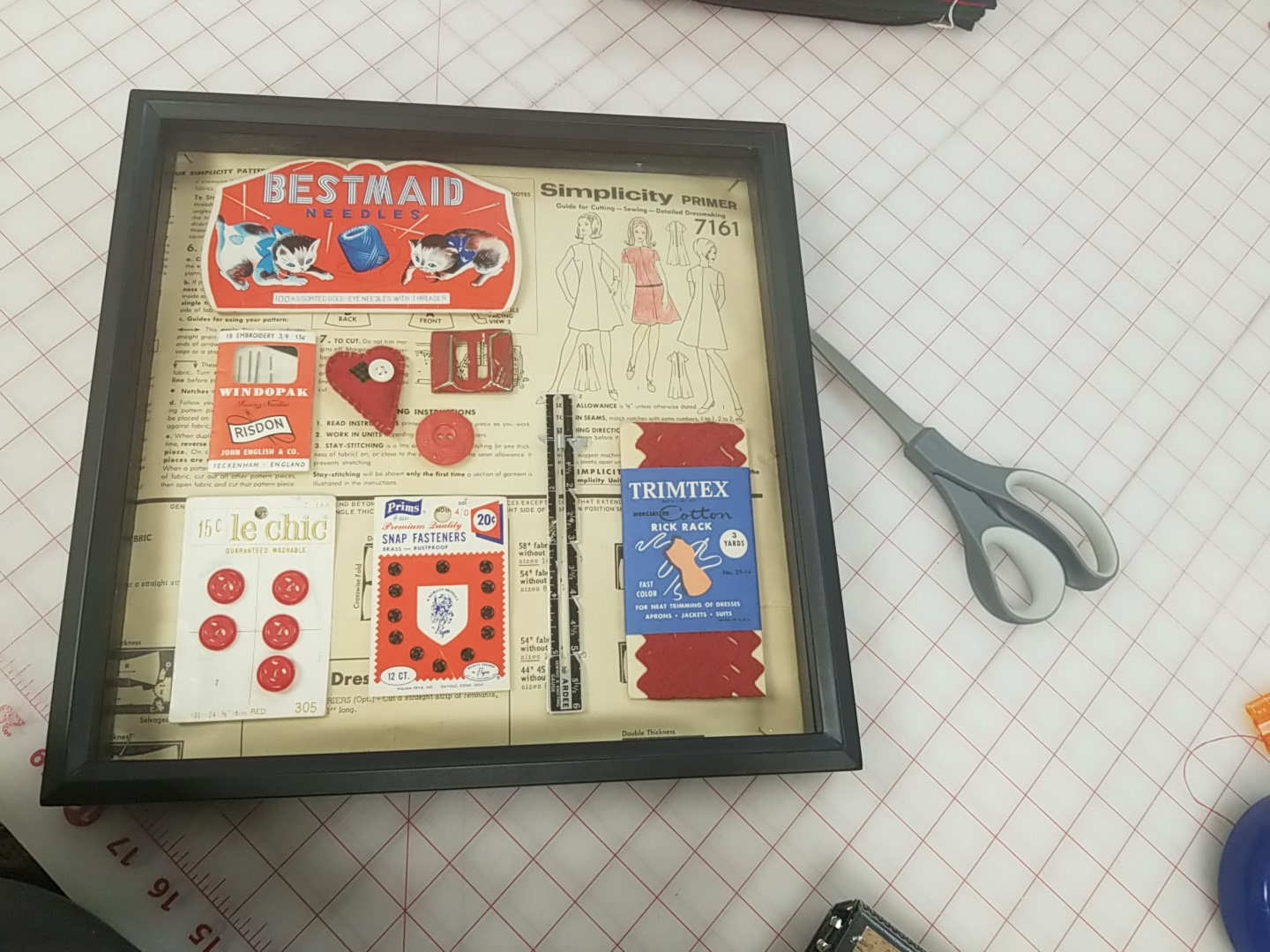 Vintage Notion Shadow Boxes