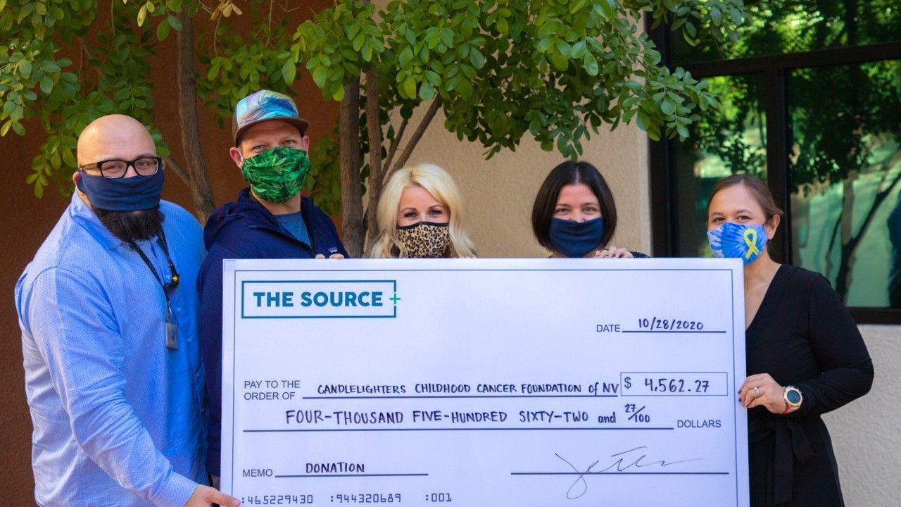 The+Source donates over $4,500 to Candlelighters Childhood Cancer Foundation