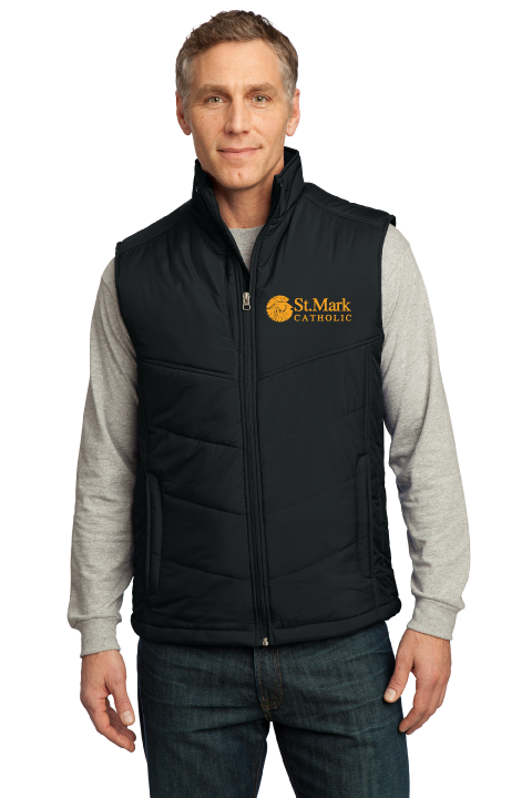 Embroidered - Puffy Vest - Mens