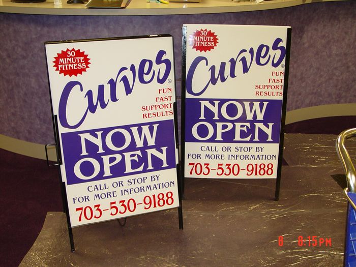 Curves Yard Signs