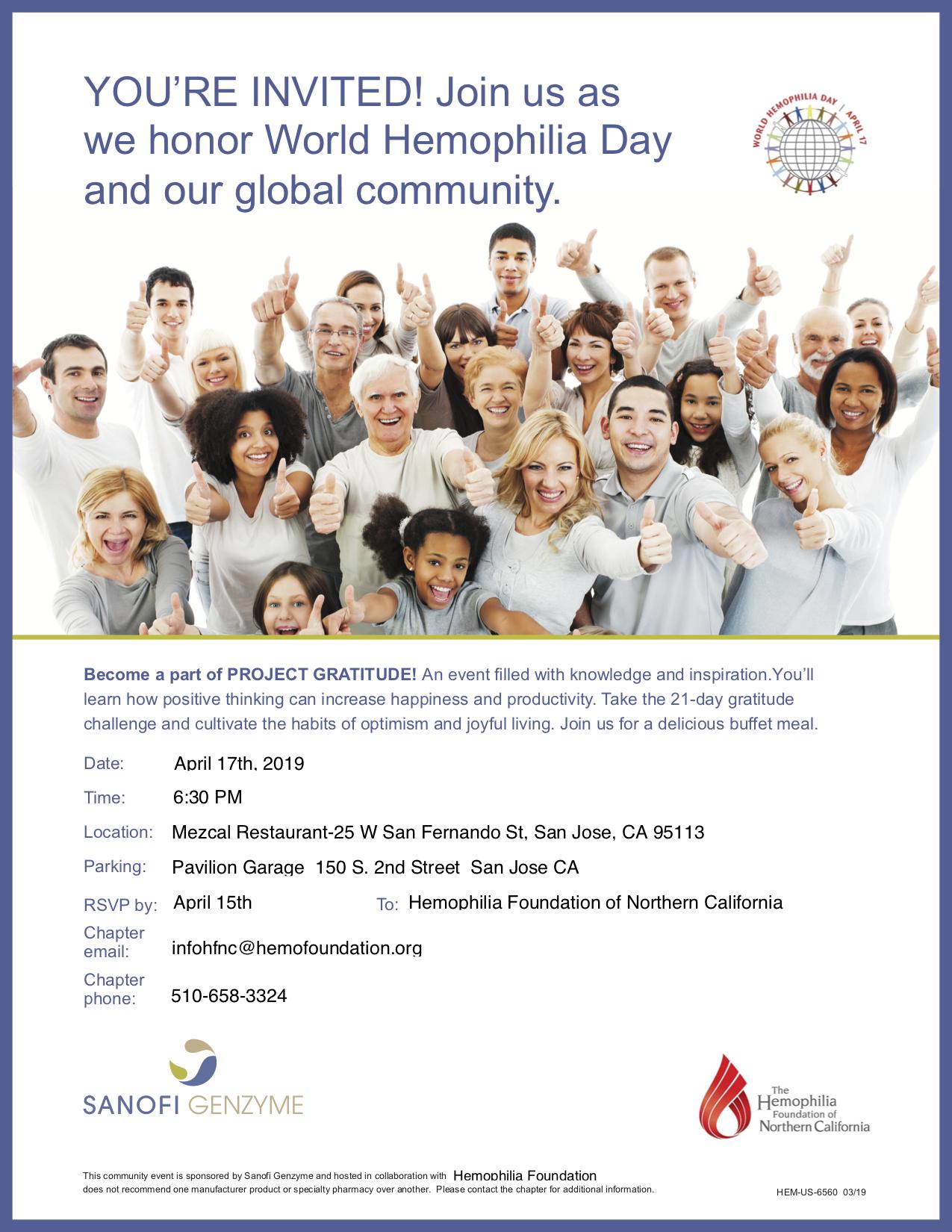 World Hemophilia Day Event