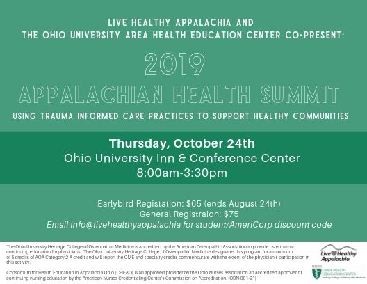 Using Trauma Informed Care Practices to Support Healthy Communities (October 24, 2019)