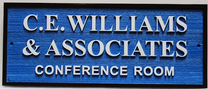 C12107 - Carved  Cedar Wood  Sign for a Conference Room for C.E. Williams & Associates
