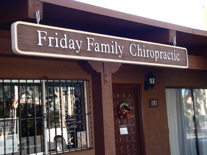 B11155 - Large Post-Mounted HDU Sign for Chiropractic Office
