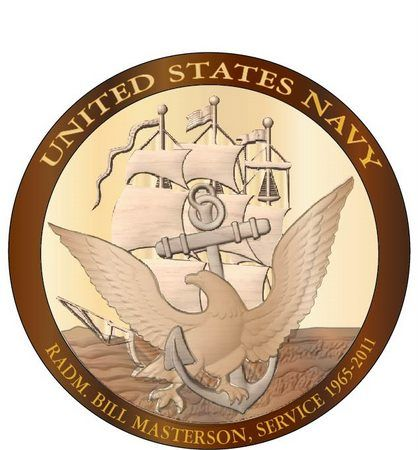 V31210 - Personalized Carved Wood Navy Seal Wall Plaque