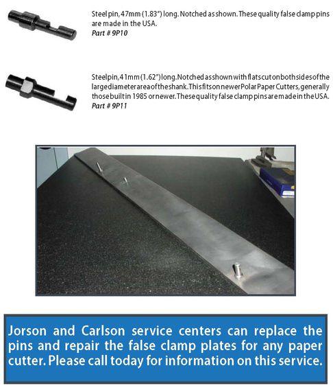 Polar false clamp pins and repair