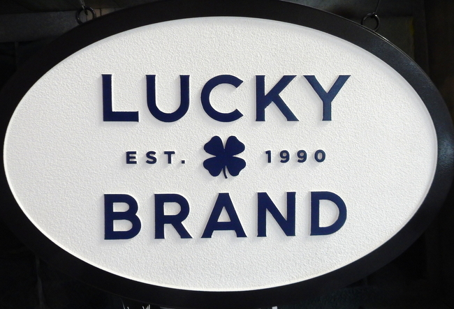 "SA28058 - High Density Urethane Sign for Retail Sales with ""Lucky Brand"" Four-Leaf Clover"