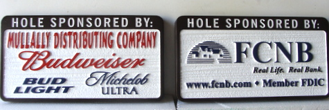 E14575 - Sandblasted HDU Golf Hole Sponsor Signs