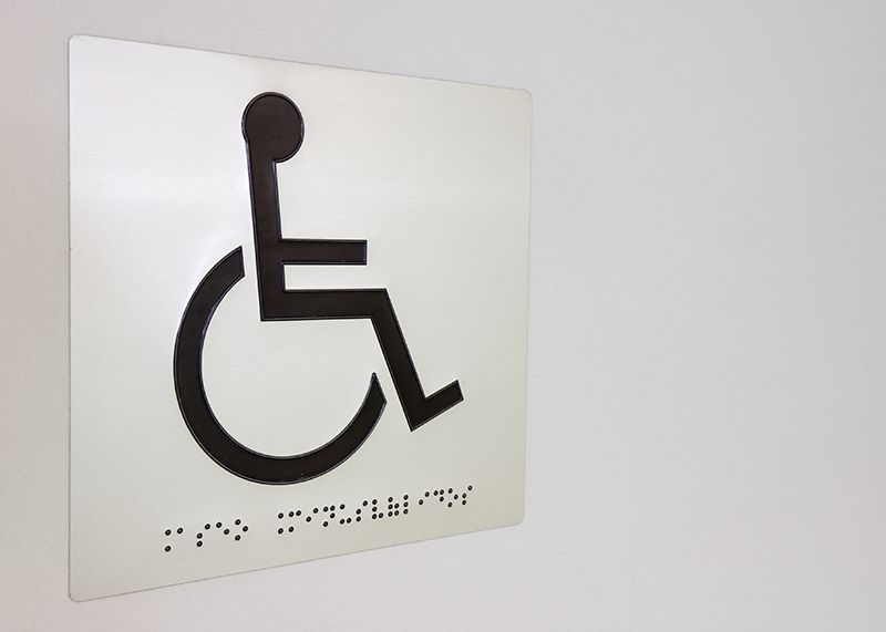 ADA Wheelchair Sign with Braille