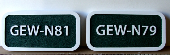 KA20906 - Sandblasted HDU Unit Number Plaques for Apartment or Condominium Complex