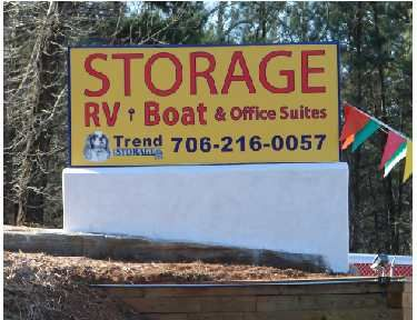 Trend Storage Monument Sign
