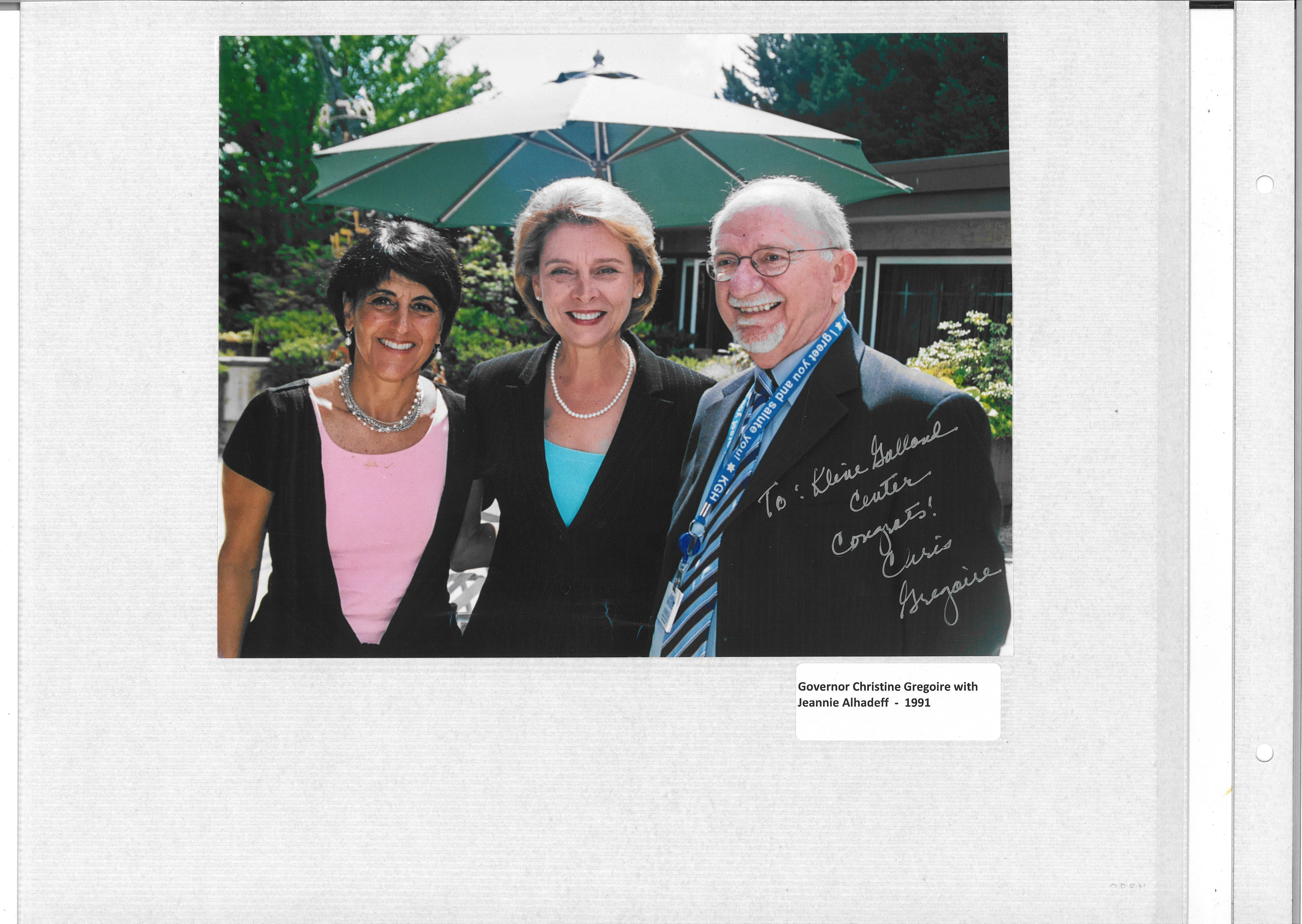 Gortler with Governor Gregoire