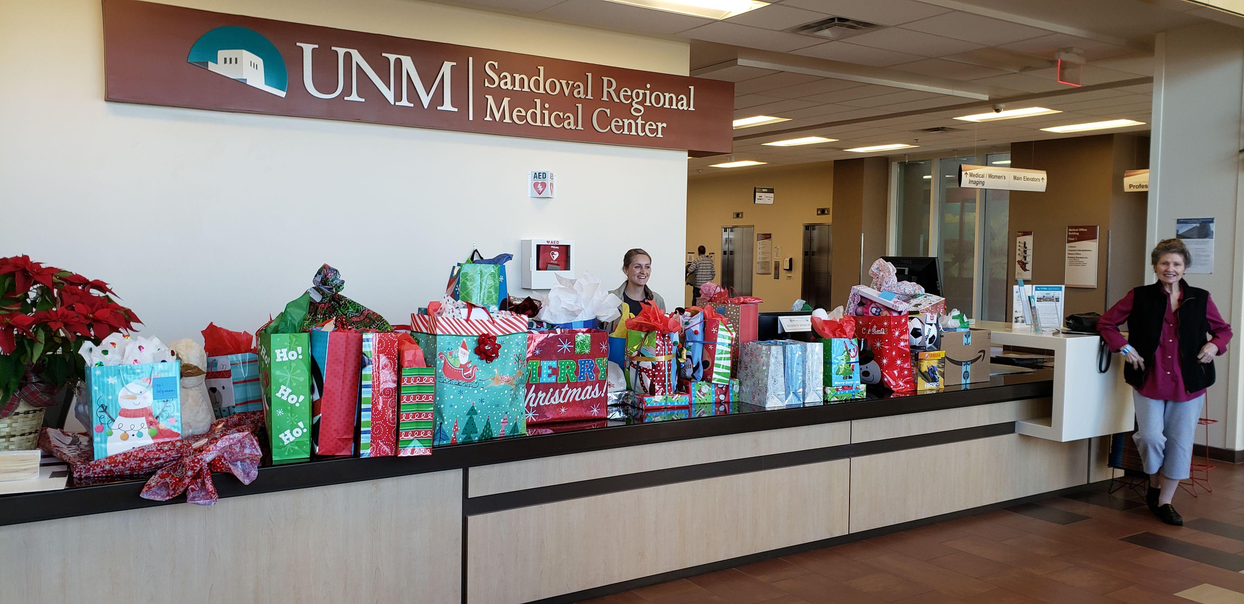 UNM Sandoval Regional Medical Center Christmas Gifts