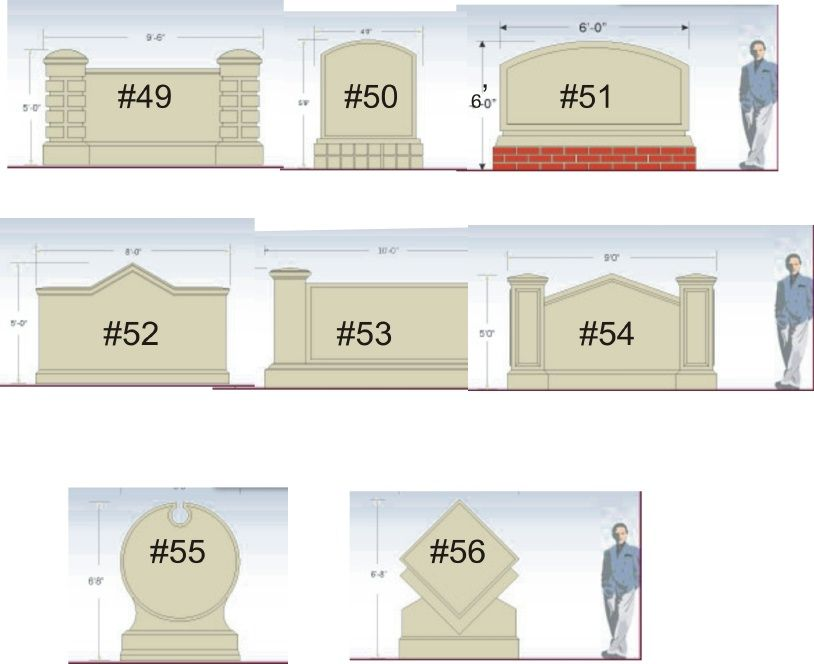 M6754 - Standard Model Shapes and Sizes #49 to #56 (click to zoom)