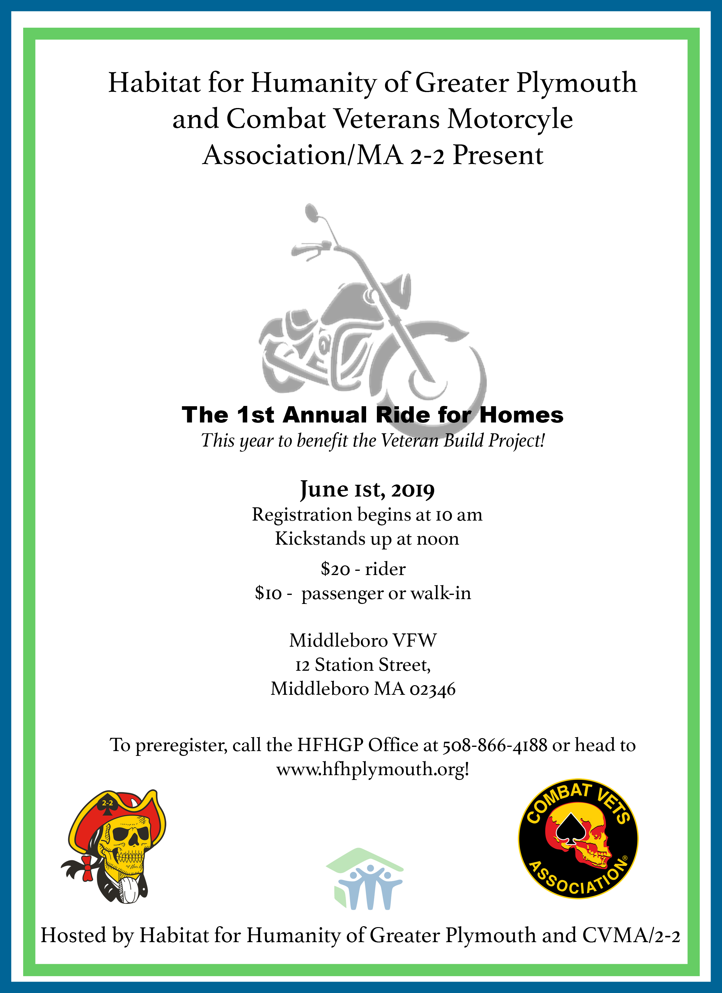 """First Annual """"Ride for Homes"""" Motorcycle Ride"""