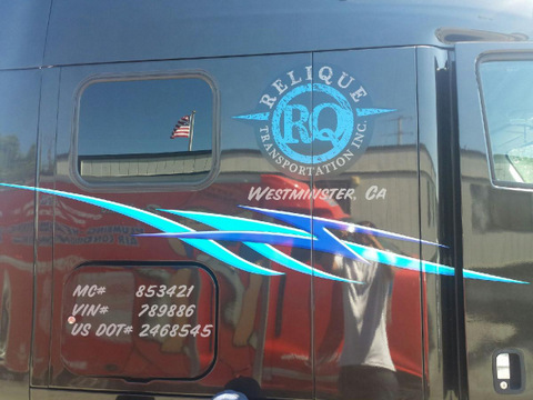 Advertise with semi truck graphics in Orange County