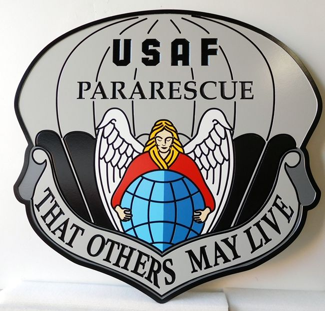V31638 - Wall Plaque Featuring the Crest of the USAF Pararescue Group