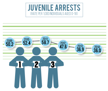 Juvenile arrests have declined in Hall County since 2010