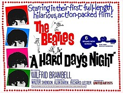 A Hard Day's Night Free Movie and Popcorn!!