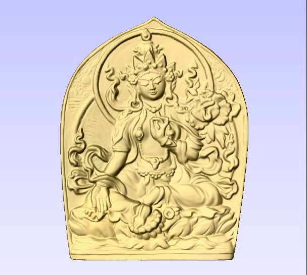 D13375 - Buddhist Tara Gold-Leafed Plaque