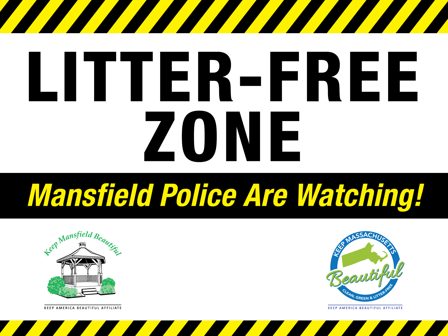 New Signs From Keep Mansfield Beautiful Deter Littering